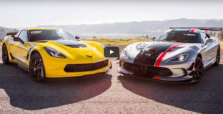 Head 2 Head Video: 2015 Chevrolet Corvette Z06 vs. Dodge Viper ACR w/ 2016 Porsche 911 GT3 RS on the side