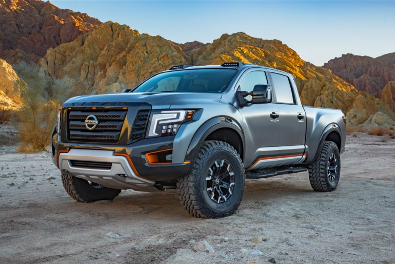 nissan titan warrior concept pushes boundaries at 2016 detroit auto show. Black Bedroom Furniture Sets. Home Design Ideas