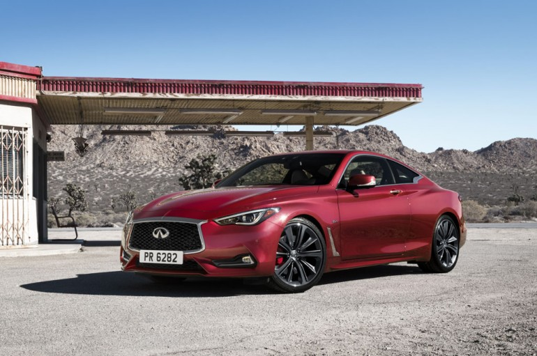 The Q60's bold exterior – lower and wider than predecessors – expresses a powerful elegance through its daring proportions and taut, muscular lines. Dynamic enhancements, including an all-new lightweight and sophisticated 3.0-liter V6 twin-turbo engine, together with new adaptive steering and digital suspension systems, result in a premium sports coupe designed and engineered to perform.