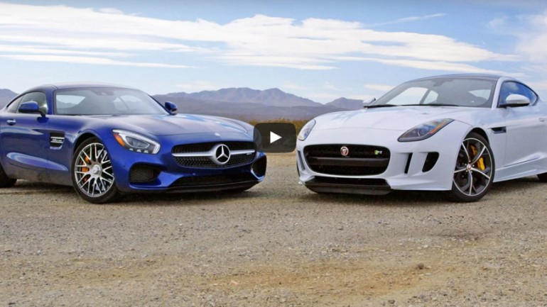 Head2Head Video: 2016 Mercedes-AMG GT S vs. Jaguar F-Type Coupe R