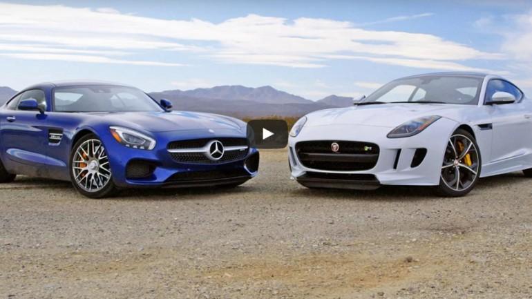 Head2Head Video: 2016 Mercedes-AMG GT S vs. Jaguar F-Type Coupe R