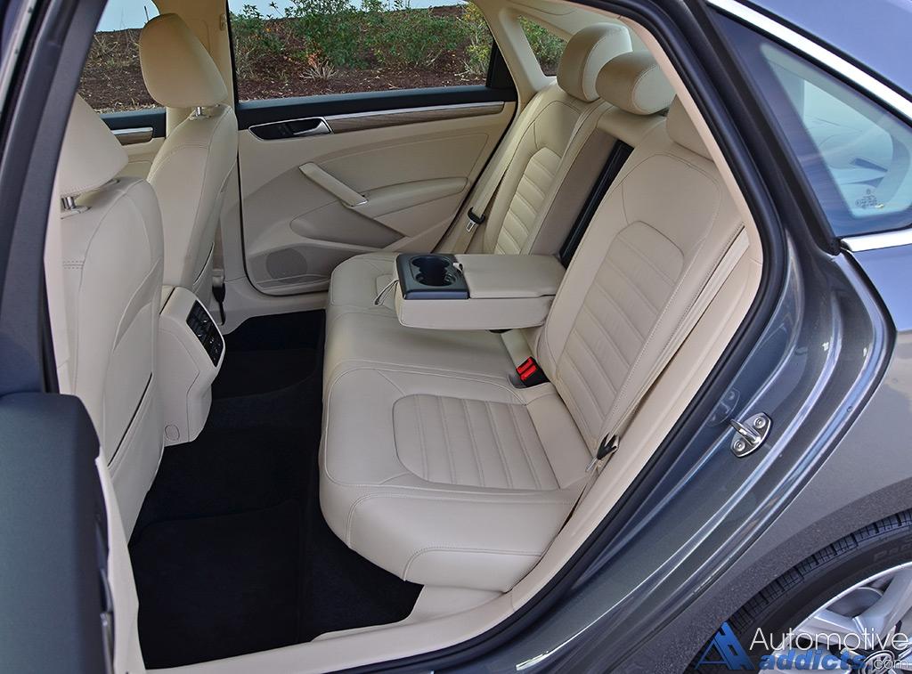 volkswagen passat sel v6 seats rear test drive premium automotiveaddicts