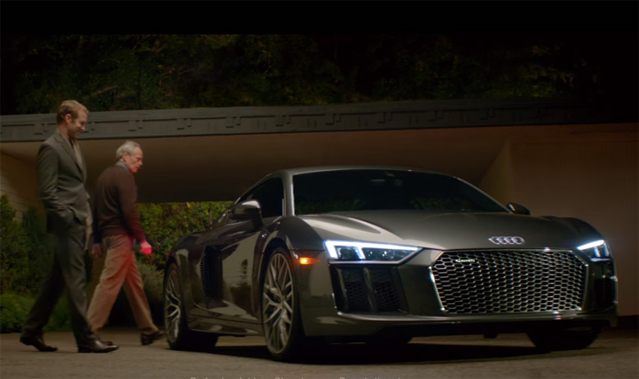 Audi R Serves As Commanders Rocket To The Moon In Big Game - Audi car games audi r8