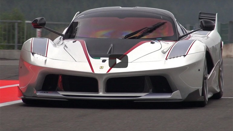Ferrari FXX K Roaring Through SPA-Francorchamps Circuit: Video