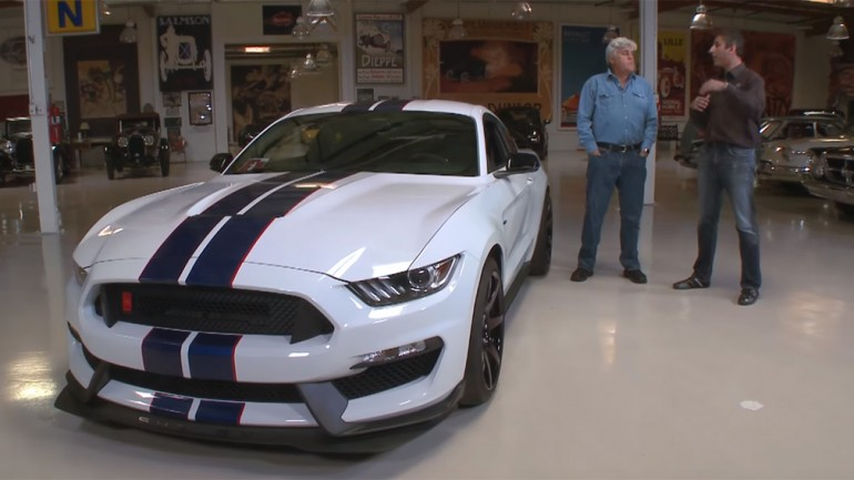 Jay Leno Gets Giddy in his new 2015 Ford Mustang Shelby GT350R: Video