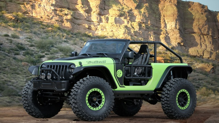 Jeep and Mopar Unleash Hellacious Motherload of Concepts, Including Hellcat-Powered Trailcat