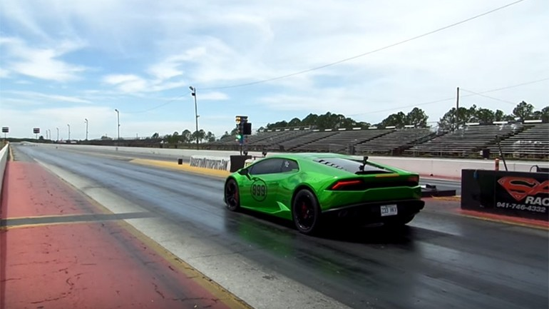 World's Quickest Lamborghini Huracan Tuned by Florida's Heffner Performance runs 8.3 in ¼ Mile: Video