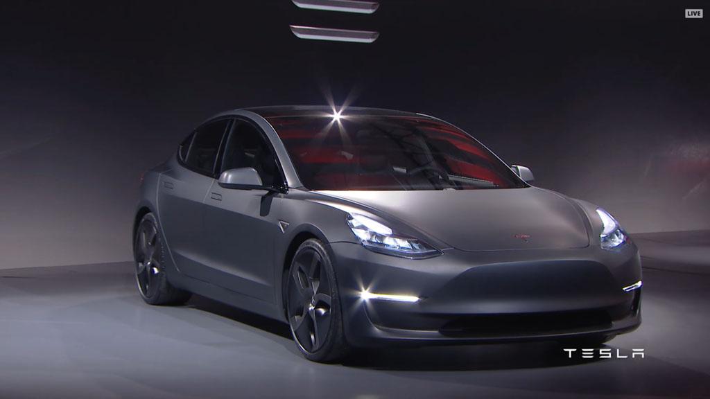 Tesla Unveils Model 3 Promising 35 000 Starting Price