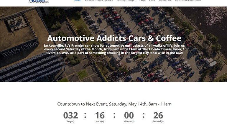 New Internet Face and Informational Portal for Automotive Addicts Cars & Coffee Launched