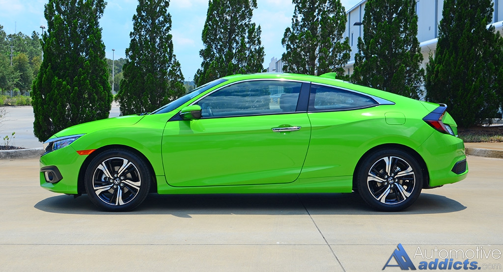 2016 honda civic coupe touring review test drive winning with two doors. Black Bedroom Furniture Sets. Home Design Ideas