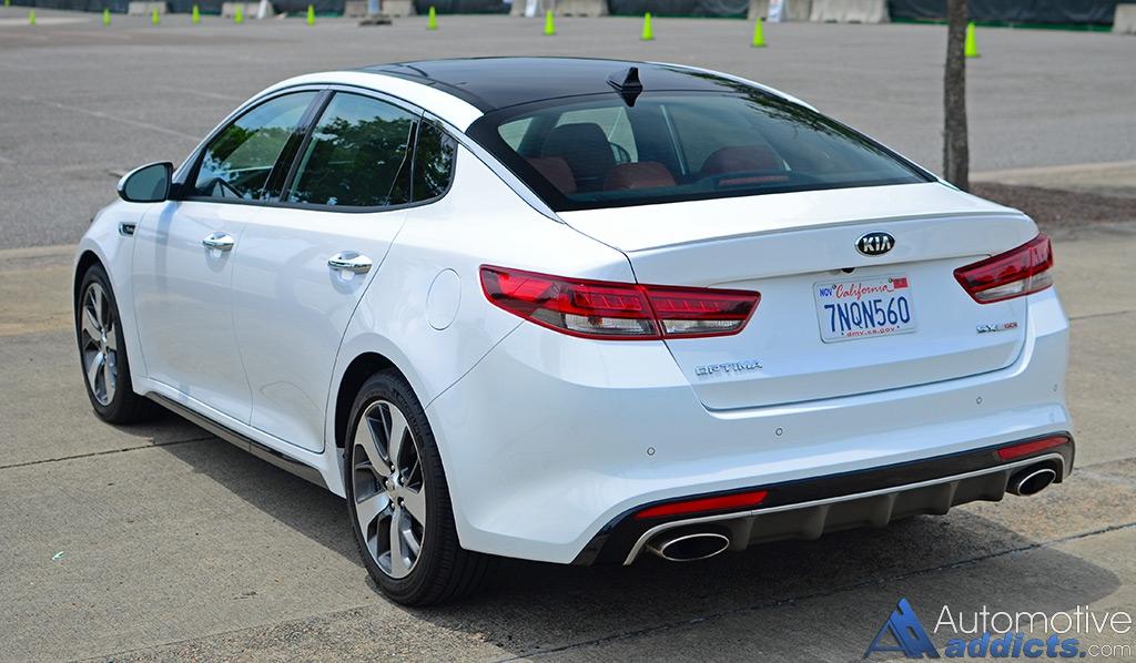 2016 Kia Optima Sx Turbo Rear 1 Automotive Addicts