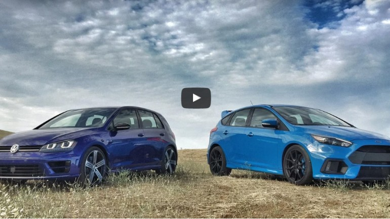 2017 Ford Focus RS vs. 2017 Volkswagen Golf R: Head 2 Head Video
