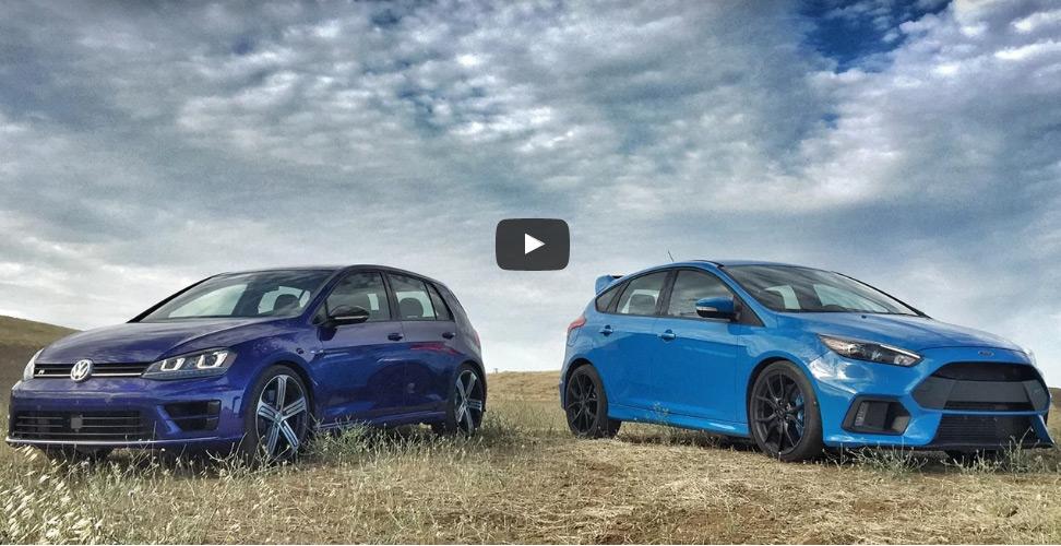 2017 Ford Focus Rs Vs 2017 Volkswagen Golf R Head 2 Head