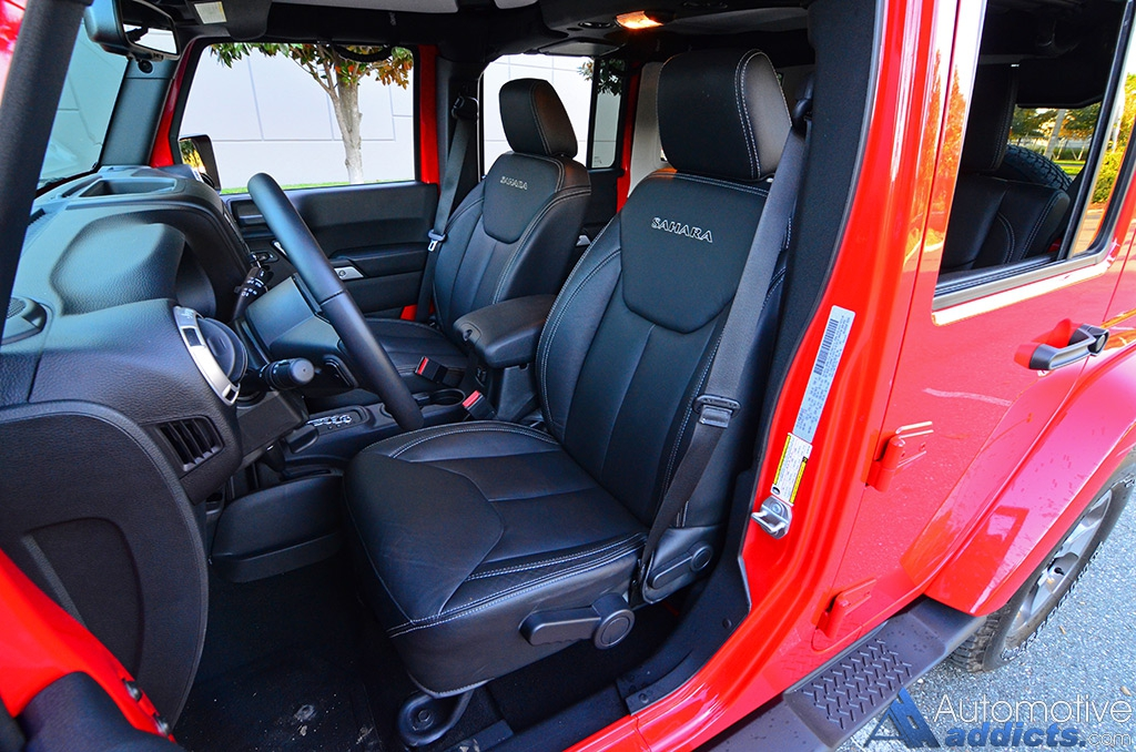 2016 jeep wrangler sahara unlimited review test drive for Jeep wrangler unlimited sahara interior