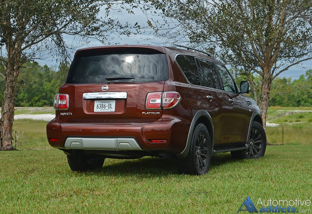nissan armada platinum awd review test drive