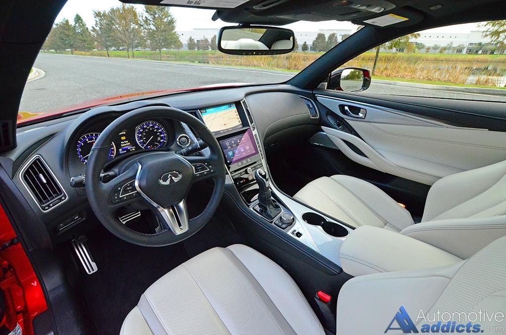 2017 Infiniti Q60 Redsport 400 Interior