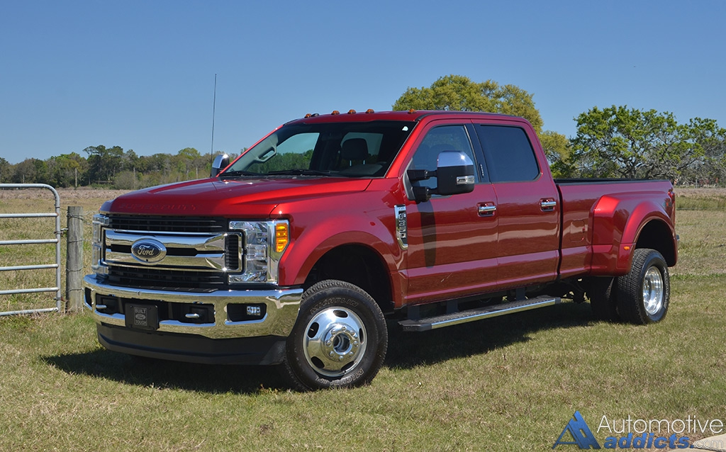 2017 ford f 350 4 4 super duty crew cab xlt dual rear wheels review test drive. Black Bedroom Furniture Sets. Home Design Ideas