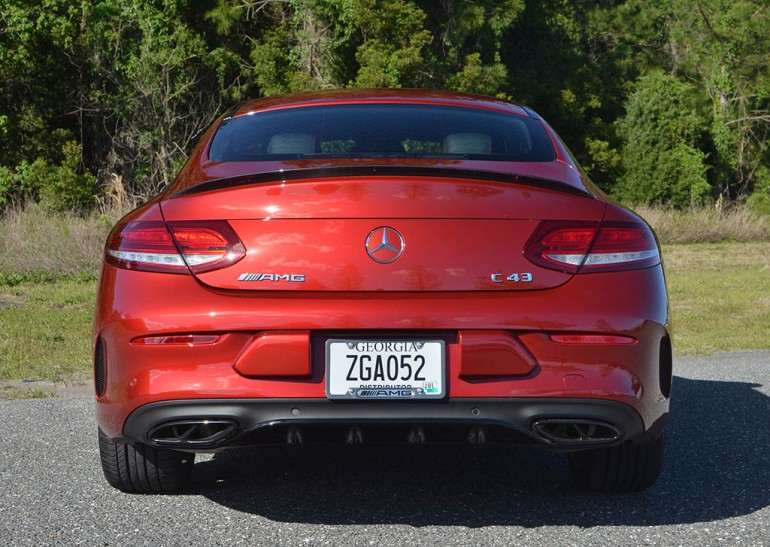 2017 mercedes amg c43 coupe 4matic rear. Black Bedroom Furniture Sets. Home Design Ideas