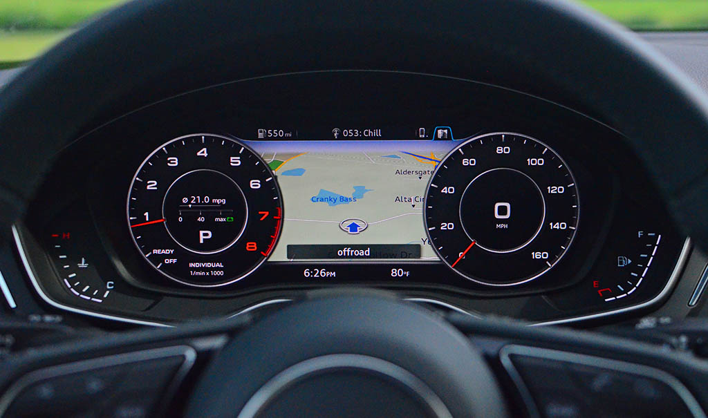 2018 audi virtual cockpit. contemporary audi the fuel economy of the new 2018 audi a5 is surprisingly efficient  considering its ability to perform well in reaching 60 mph just 52 seconds with audi virtual cockpit