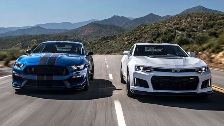2017 Chevrolet Camaro ZL1 vs. 2017 Ford Shelby GT350R Head 2 Head Video