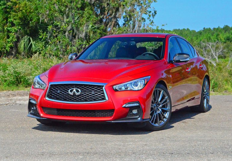 2018 infiniti q50 red sport 400 quick spin review test drive. Black Bedroom Furniture Sets. Home Design Ideas