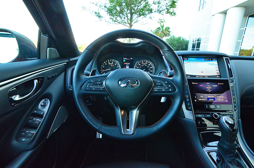 infiniti  red sport  quick spin review test drive