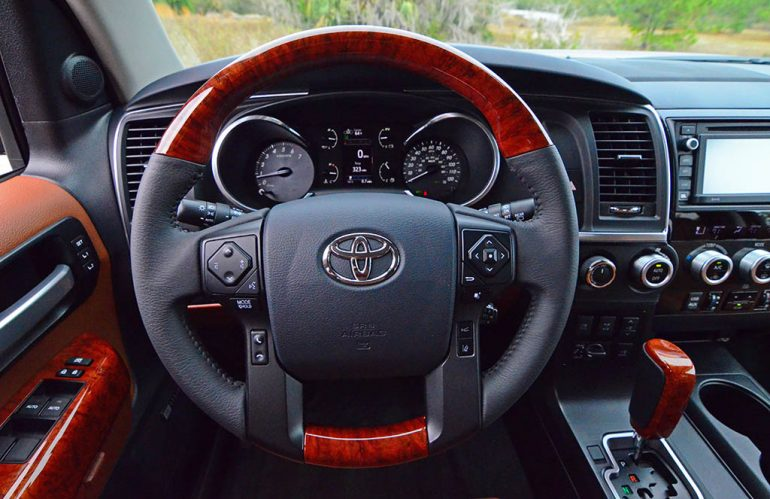 2018-toyota-sequoia-platinum-dashboard-steering-wheel