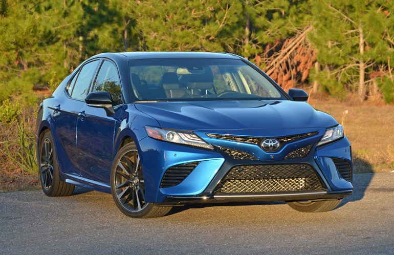 2018 toyota camry xse v6 review test drive. Black Bedroom Furniture Sets. Home Design Ideas