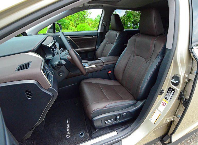 2018 lexus rx 450hl front seats