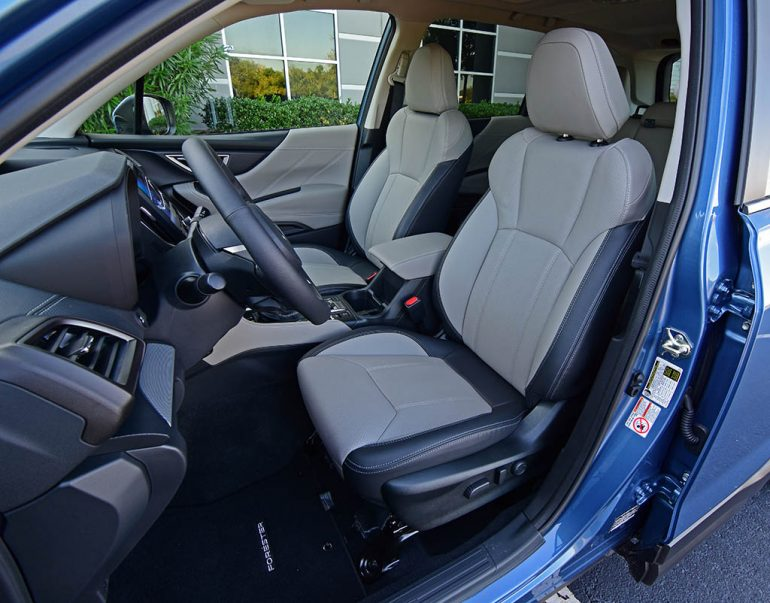 2019 subaru forester limited front seats