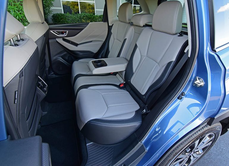 2019 subaru forester limited back seats