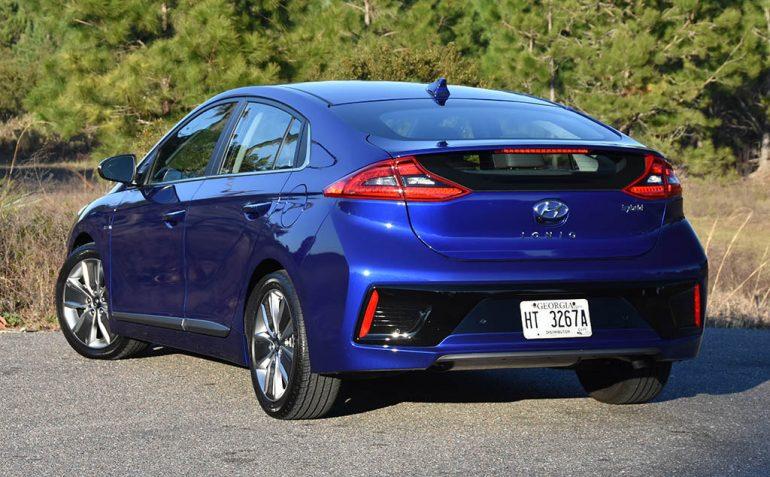 2019 hyundai ioniq hybrid limited rear