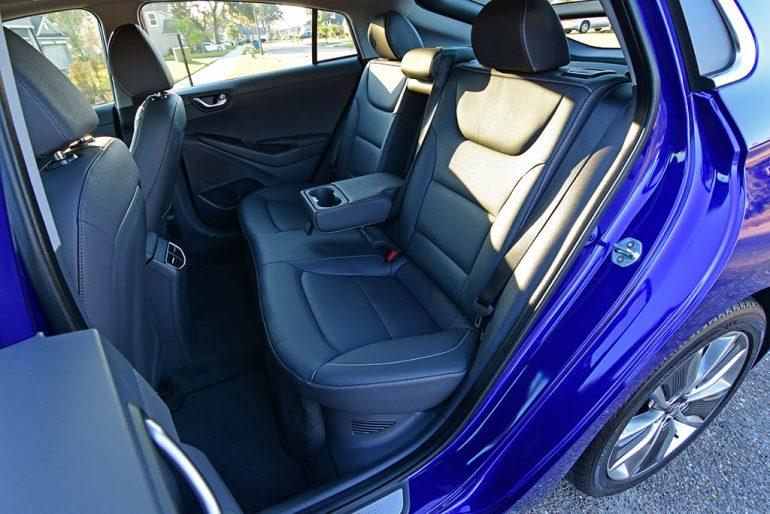 2019 hyundai ioniq hybrid limited rear seats