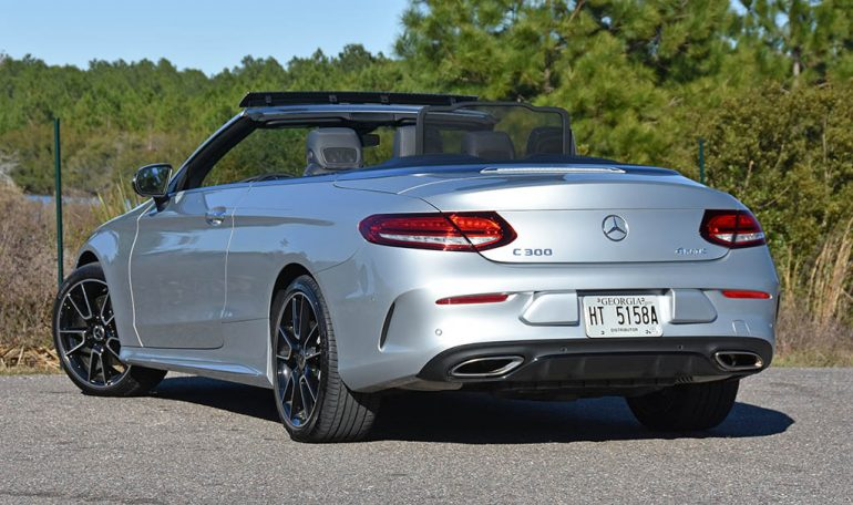 2019 mercedes-benz c300 cabriolet rear