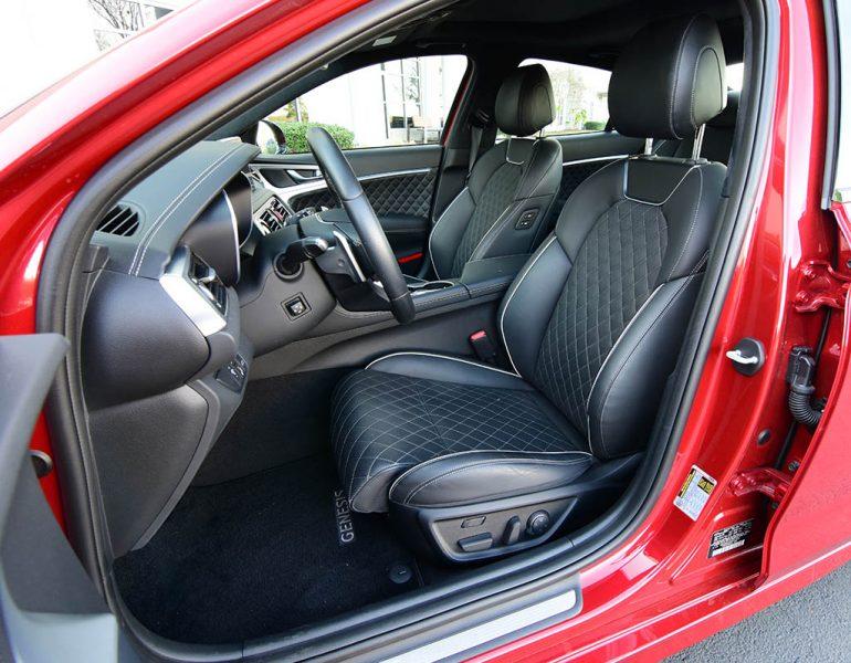 2019 genesis g70 3.3t sport front seats