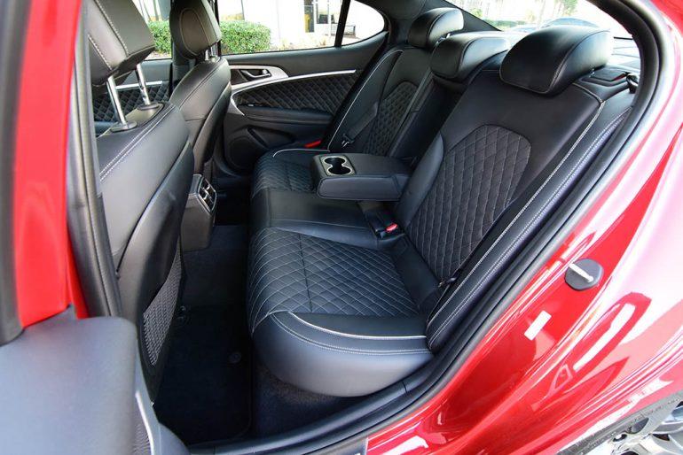 2019 genesis g70 3.3t sport back seats