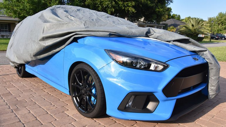 Storing the Ford Focus RS with a Car Cover from EmpireCovers