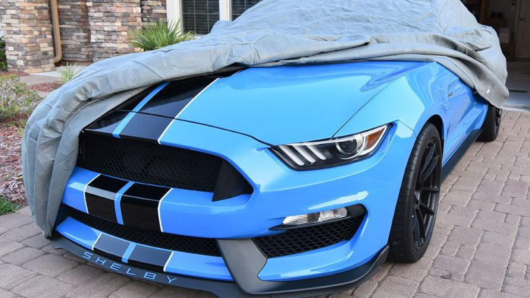 Our Automotive Addicts Shelby GT350 Gets the Proper Car Cover