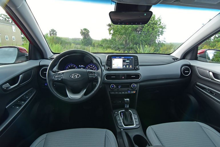 2019 hyundai kona ultimate dashboard