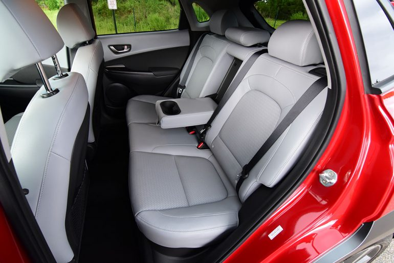 2019 hyundai kona back seats