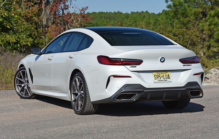 bmw m850i gran coupe back of car