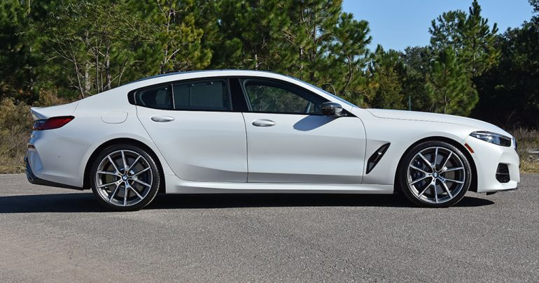 bmw m850i gran coupe side