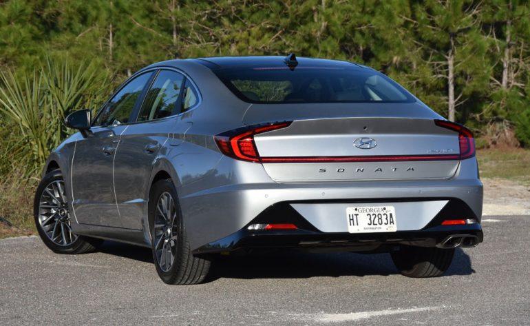 2020 hyundai sonata limited rear end