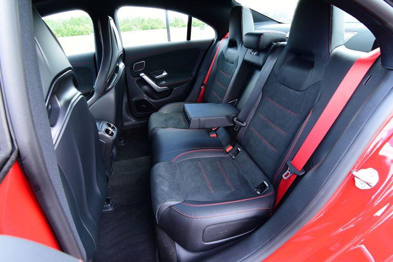 2020 mercedes-amg cla 35 rear seats