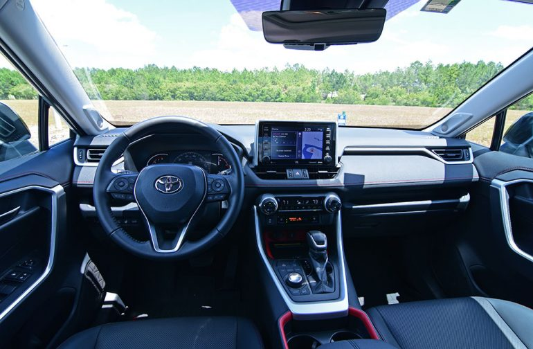 2020 toyota rav4 trd off-road front dashboard