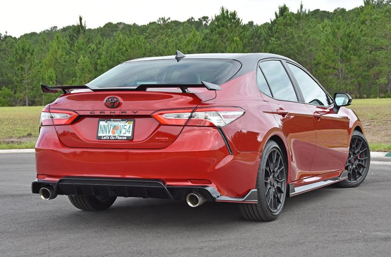 2020 toyota camry trd back