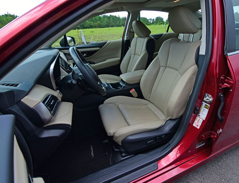 2020 subaru legacy limited xt front seats
