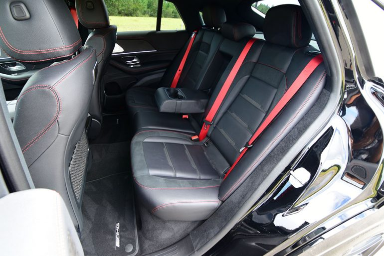 2021 mercedes-amg gle 53 coupe rear seats