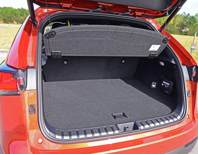 2020 lexus nx 300 f sport cargo room