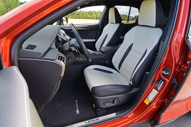 2020 lexus nx 300 f sport front seats